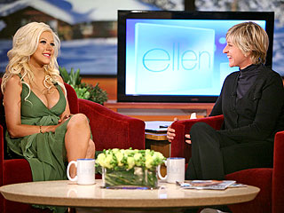 Christine talks about Motherhood on Ellen's show