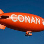 Conan & Foursquare Team Up With Flying Blimp